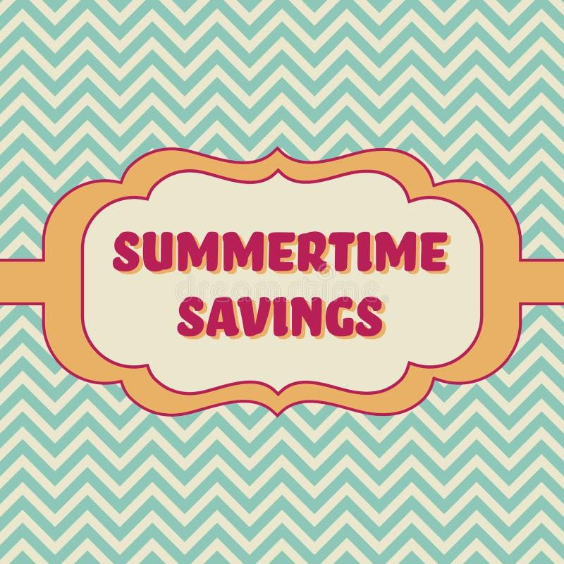 Insegna di risparmio di estate illustrazione vettoriale