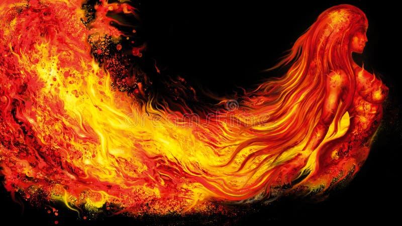 Insegna di spirito del fuoco fotografia stock
