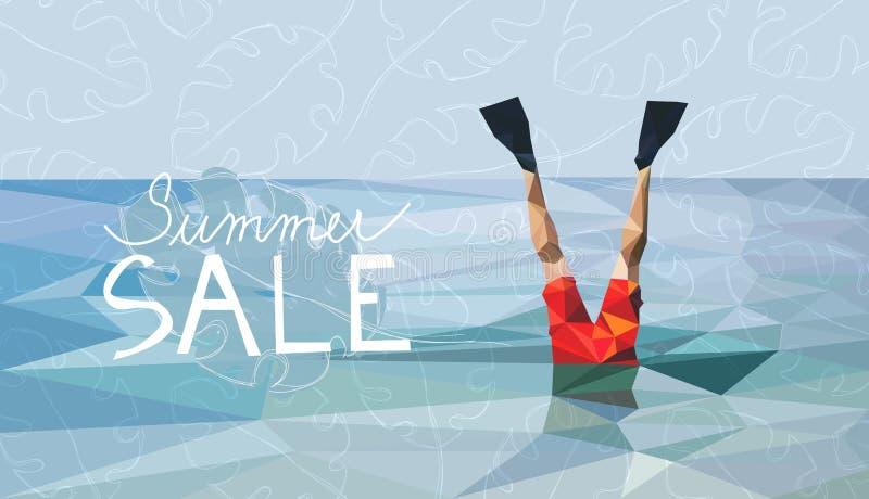 Insegna di vendita di estate royalty illustrazione gratis