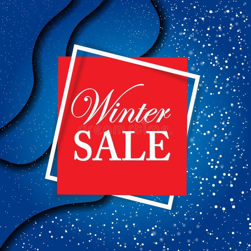 Insegna di vendita di Natale Modello nero di progettazione di venerdì Autoadesivo di vendita nello stile tagliato di carta Illust illustrazione di stock