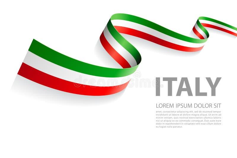 Insegna di vettore con i colori italiani della bandiera royalty illustrazione gratis