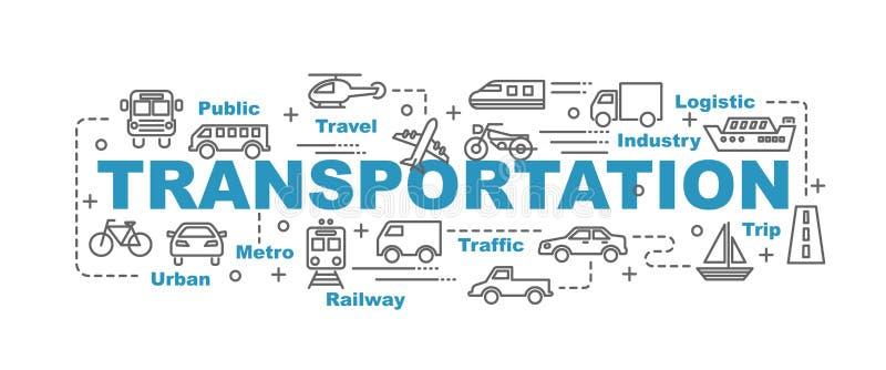 Insegna di vettore del trasporto illustrazione di stock