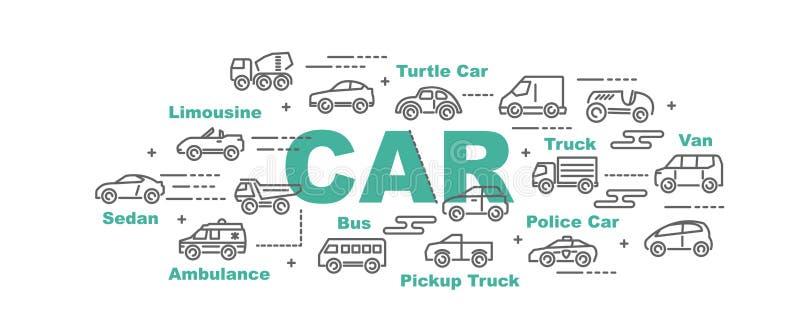 Insegna di vettore dell'automobile royalty illustrazione gratis