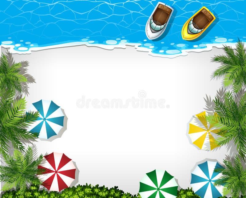 Insegna di vista aerea della spiaggia royalty illustrazione gratis