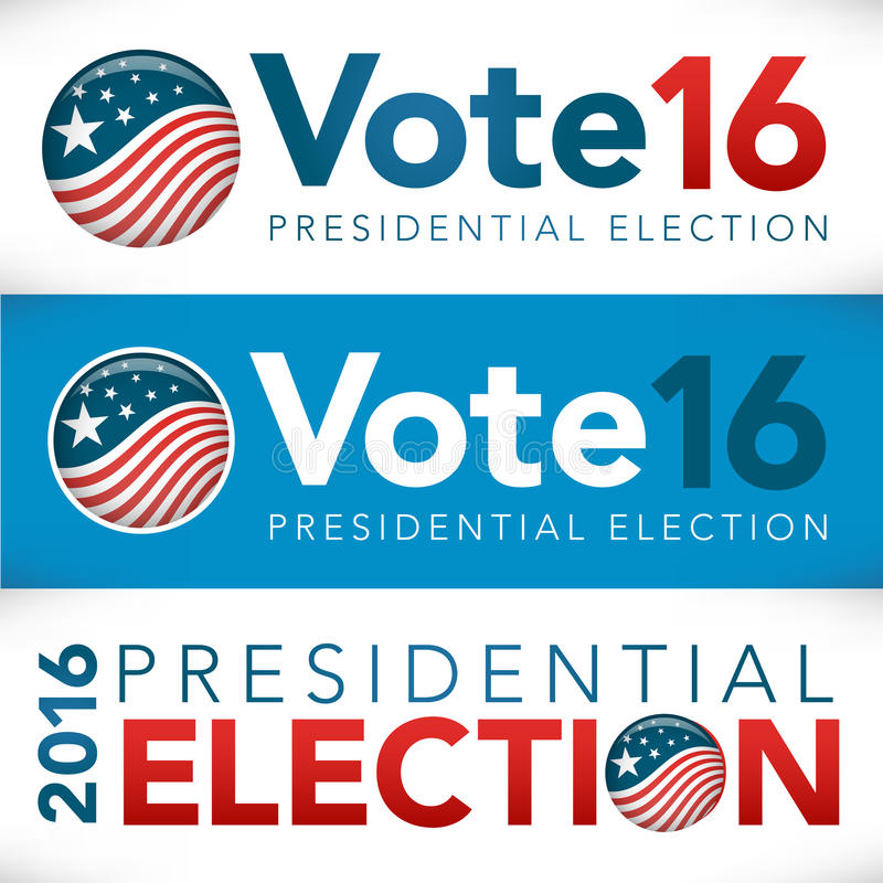 Insegna 2016 di voto royalty illustrazione gratis