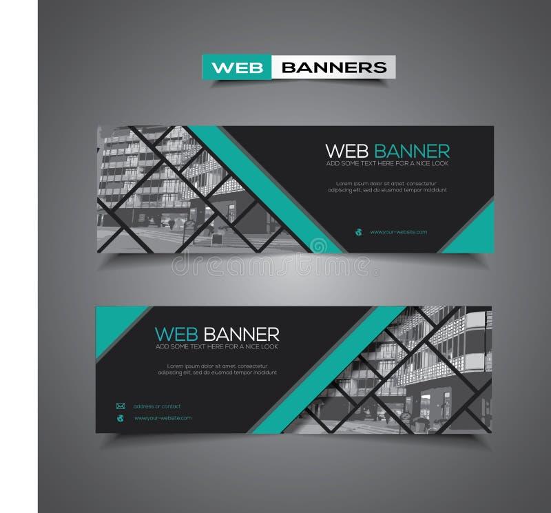 Insegna di web con progettazione moderna e area mascherata per qualsiasi immagine fotografia stock libera da diritti