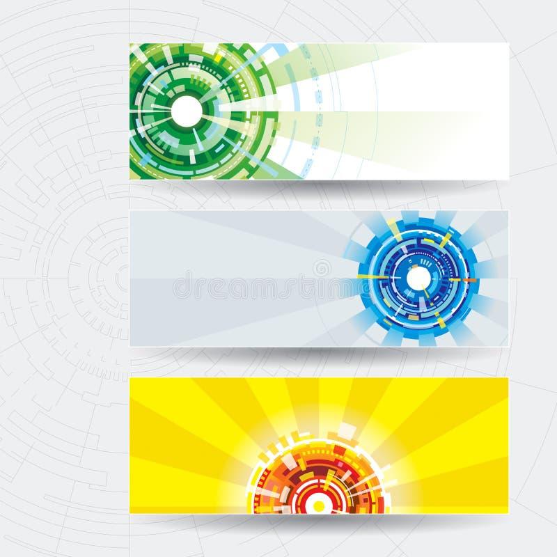 Insegna di web di tecnologia illustrazione di stock