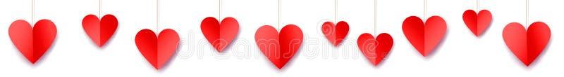 Insegna di web di giorno del ` s del biglietto di S. Valentino illustrazione di stock