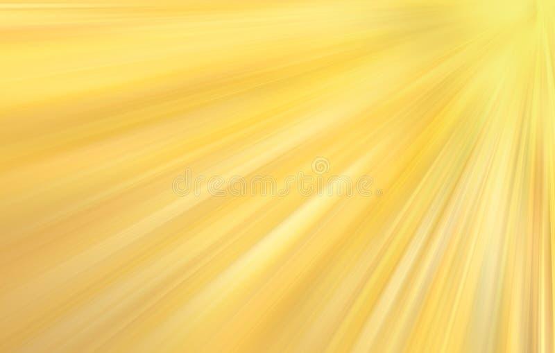 Insegna dorata soleggiata radiante illustrazione di stock