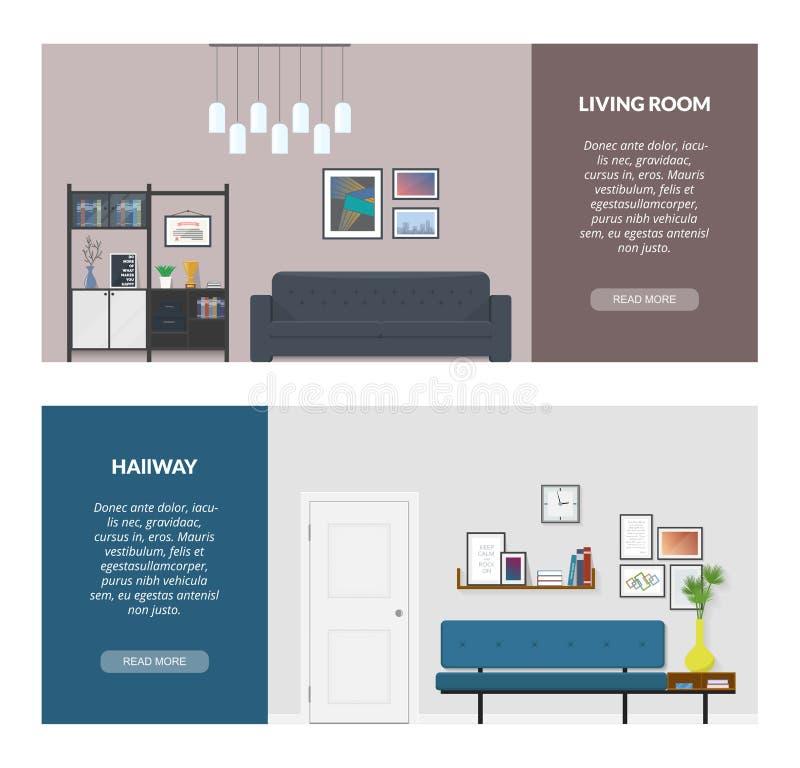 Insegna due per web design illustrazione vettoriale