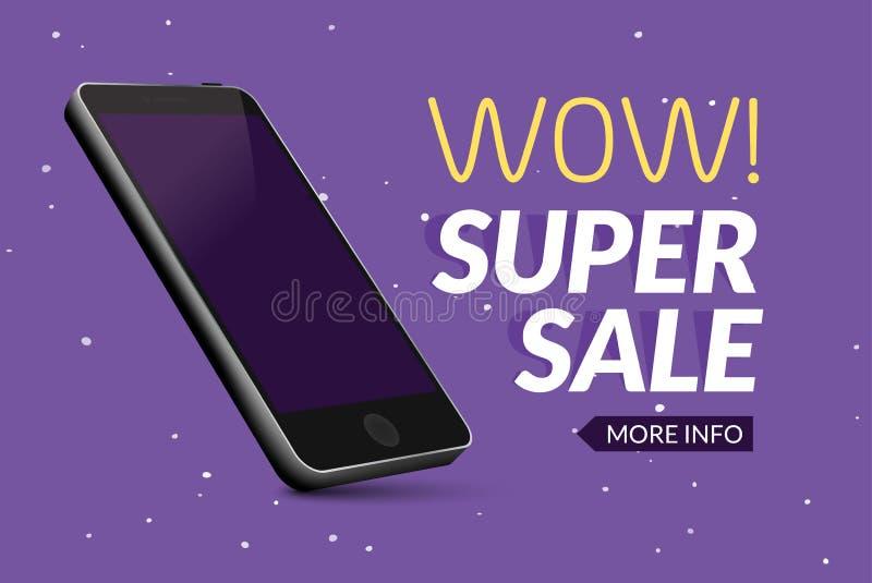 Insegna eccellente del telefono di vendita Manifesto mobile di sconto di liquidazione Vendita di Smartphone Promozione commercial royalty illustrazione gratis