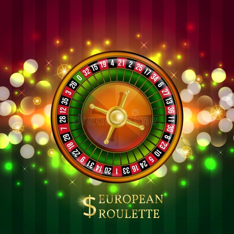 Insegna europea di gioco delle roulette royalty illustrazione gratis