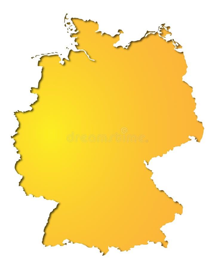 Insegna Germania - mappa della Germania - alto dettagliato royalty illustrazione gratis