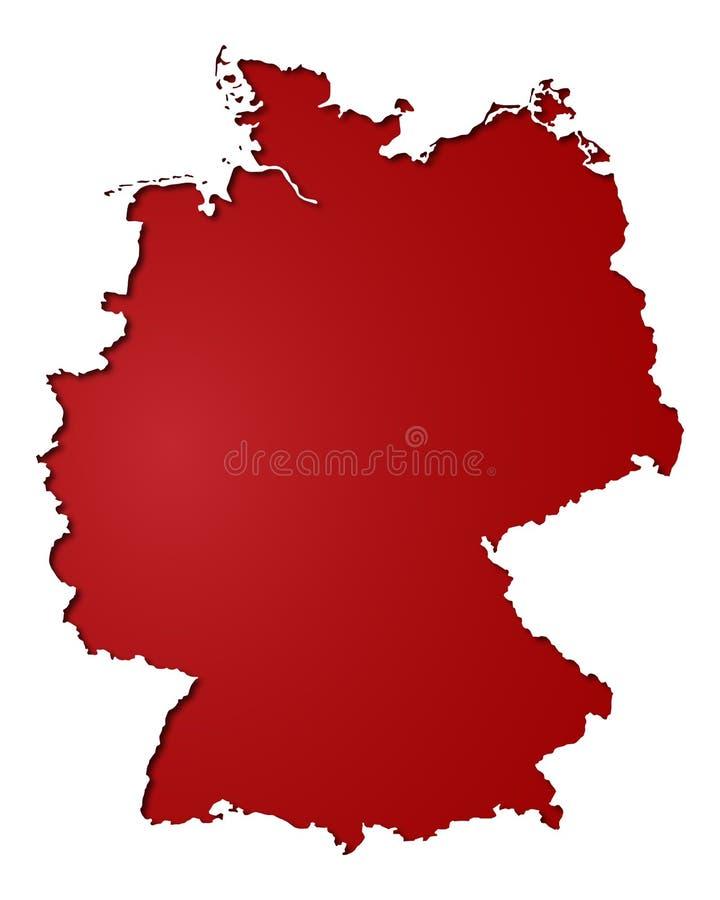 Insegna Germania - mappa della Germania - alto dettagliato illustrazione vettoriale