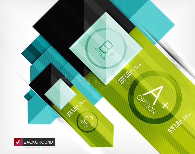 Insegna infographic geometrica di opzione di affari illustrazione vettoriale