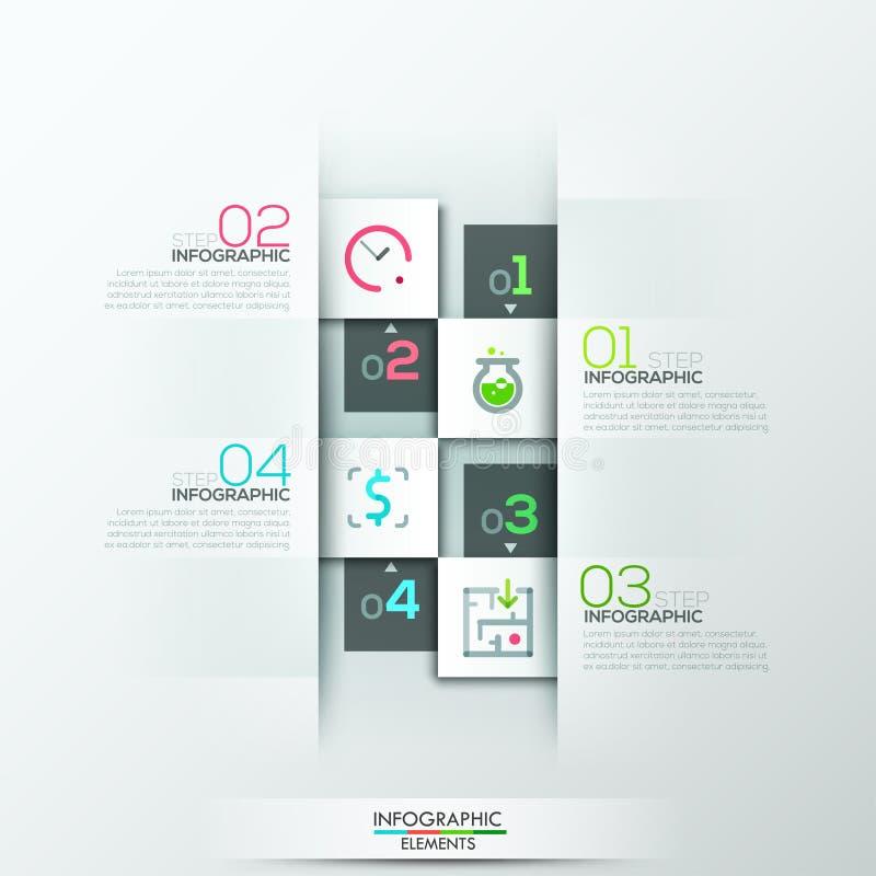 Insegna infographic moderna di opzione illustrazione vettoriale