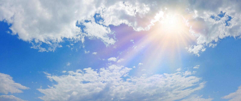 Insegna leggera celeste miracolosa di panorama fotografia stock