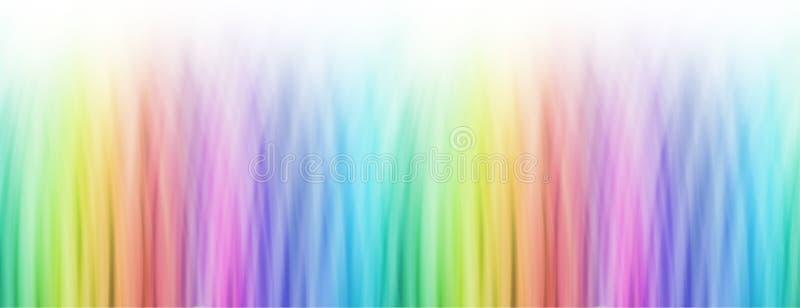 Insegna lineare luminosa del fondo dell'arcobaleno illustrazione vettoriale