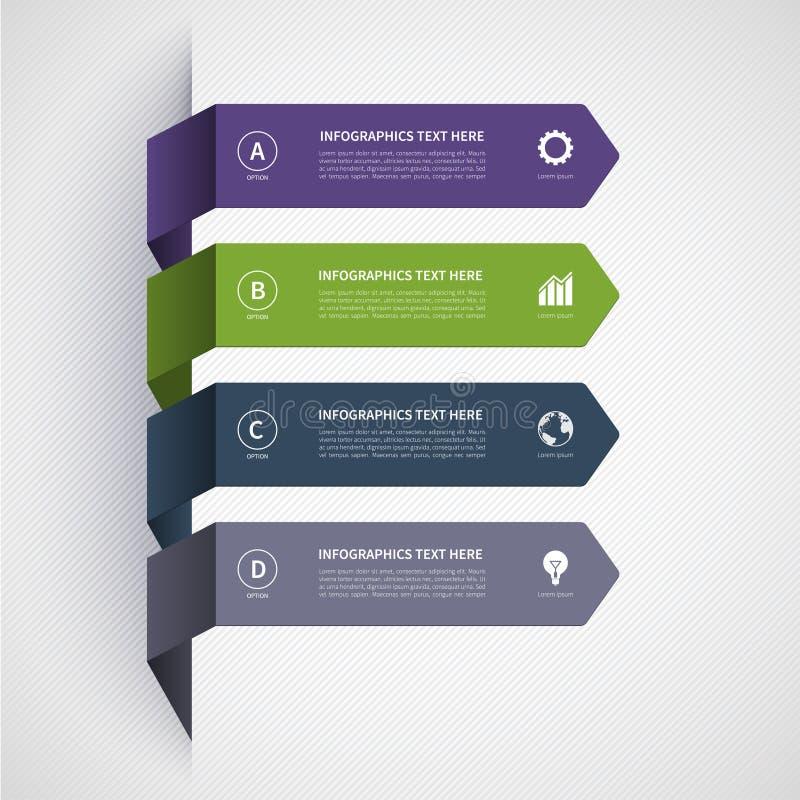 Insegna moderna di Minimalistic Infographics royalty illustrazione gratis