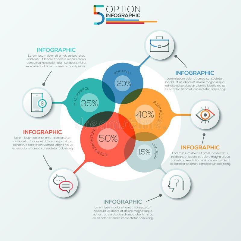 Insegna moderna di opzioni di infographics illustrazione di stock