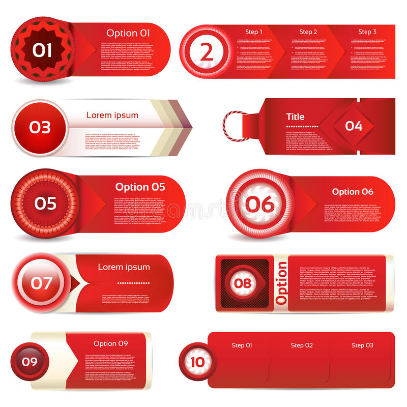 Insegna moderna di opzioni di infographics Illustrazione di vettore può essere usato per la disposizione di flusso di lavoro, il  illustrazione vettoriale