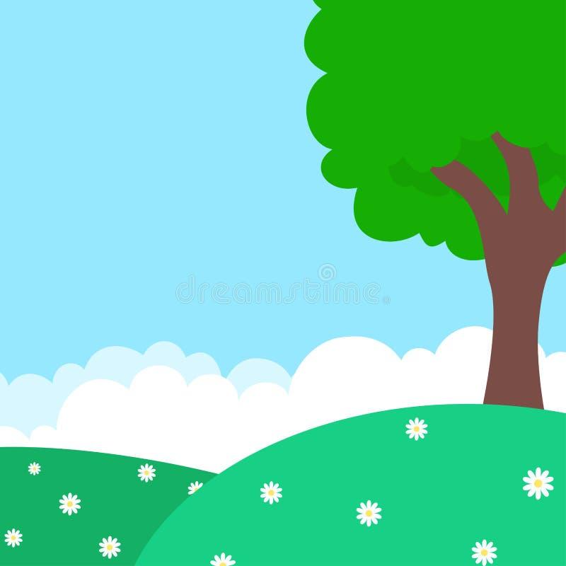 Insegna naturale di tema di aria aperta della primavera royalty illustrazione gratis