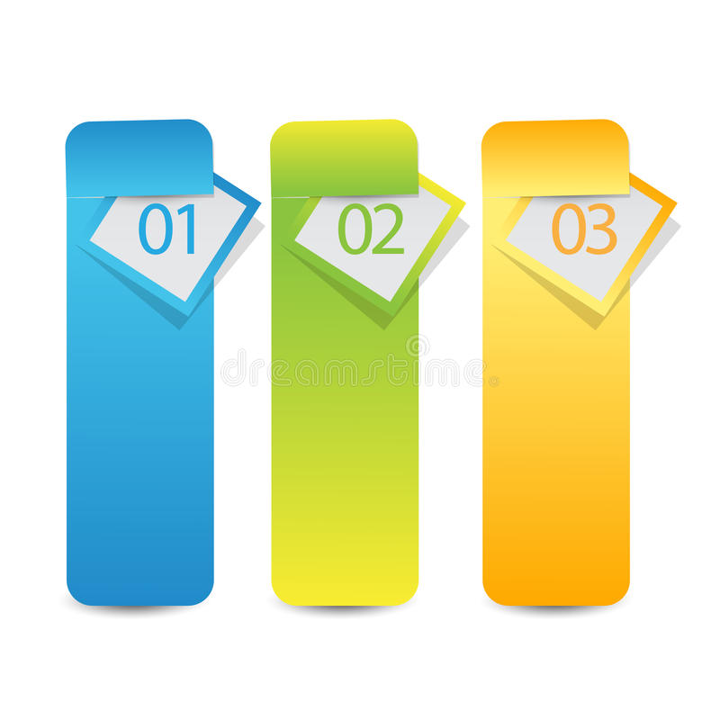 Insegna o etichetta di infographics di web con le opzioni di numero fotografie stock