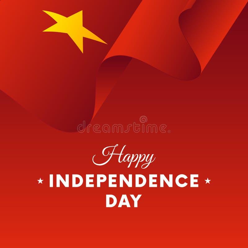 Insegna o manifesto della celebrazione di festa dell'indipendenza del Vietnam Bandierina Illustrazione di vettore royalty illustrazione gratis