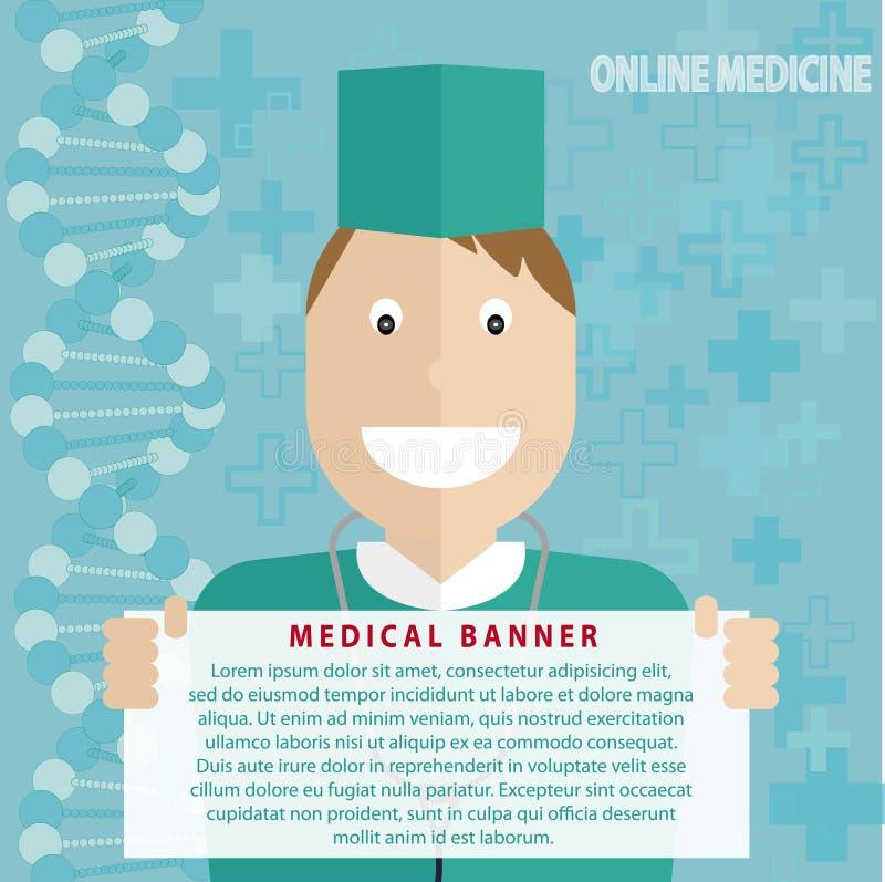 Insegna online della medicina - vettore royalty illustrazione gratis