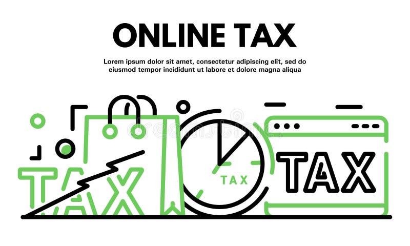 Insegna online di imposta, stile del profilo royalty illustrazione gratis