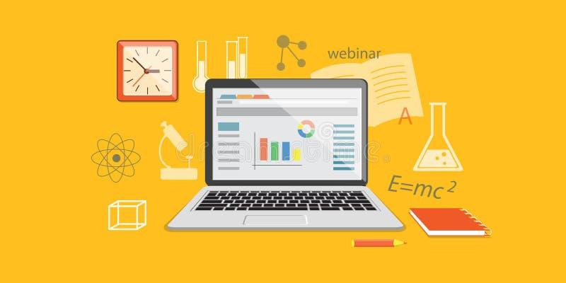 Insegna per il sito online di istruzione illustrazione vettoriale