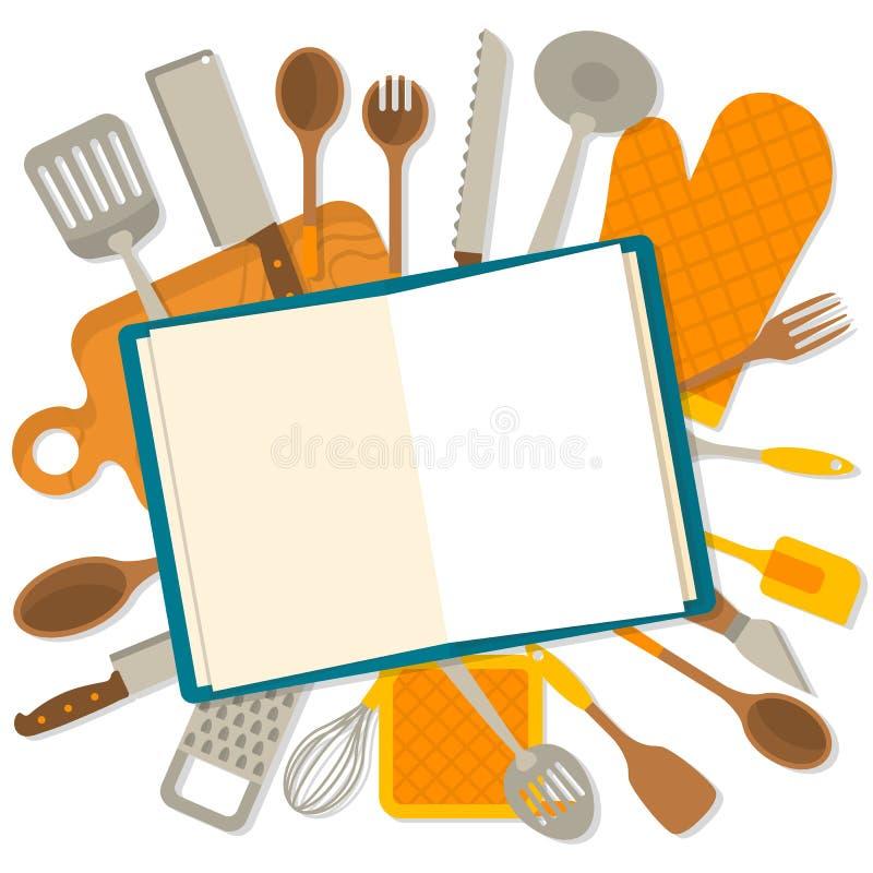 Insegna piana di progettazione di articolo da cucina royalty illustrazione gratis