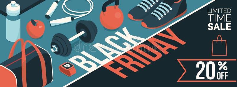 Insegna promozionale nera di vendita di venerdì royalty illustrazione gratis