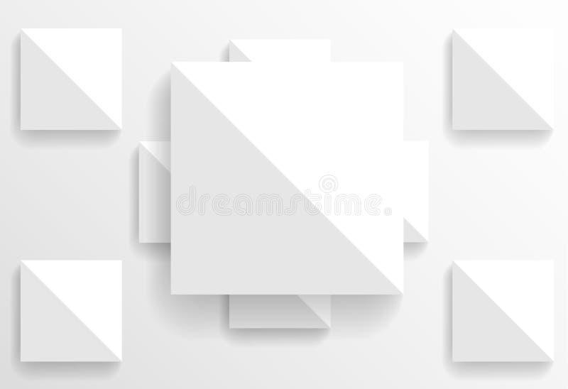 Insegna quadrata di carta royalty illustrazione gratis
