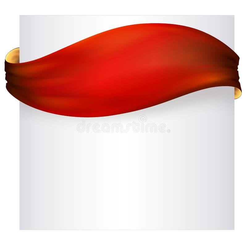 insegna rossa del nastro, disegno di vettore fotografie stock libere da diritti