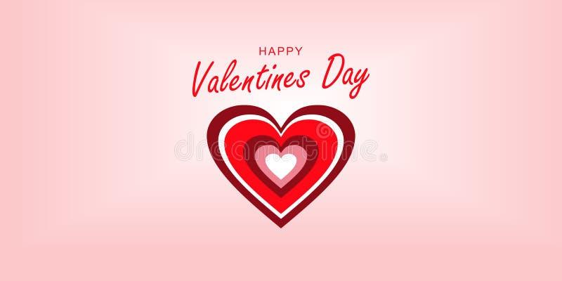 Insegna, San Valentino felice della copertura Cuori dell'arcobaleno Fondo rosa con la pendenza royalty illustrazione gratis