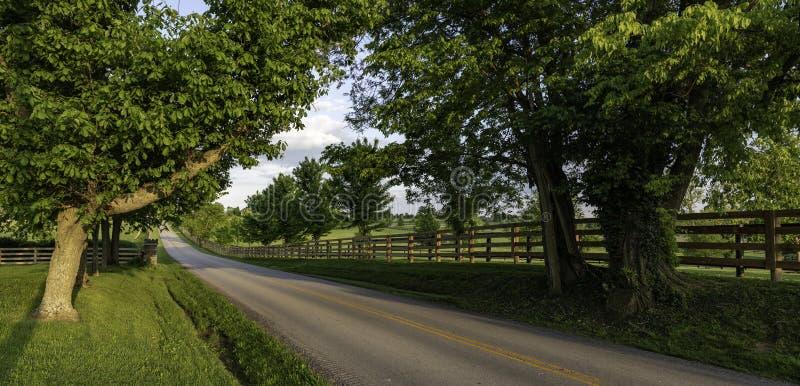 Insegna scenica della strada secondaria del Kentucky immagini stock