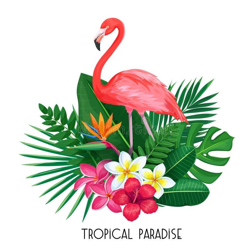 Insegna tropicale con il tucano royalty illustrazione gratis