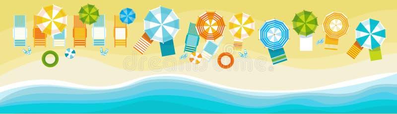 Insegna tropicale di festa della sabbia stabilita di vacanza della spiaggia di estate illustrazione di stock
