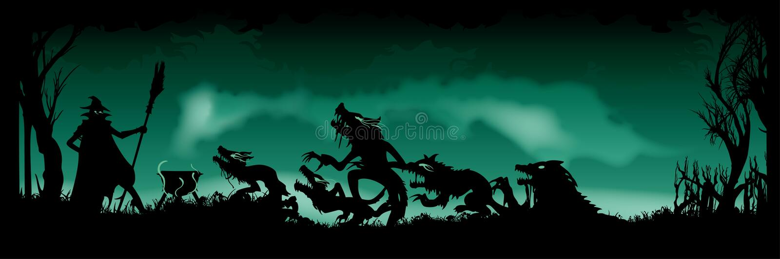 Insegna Witching di Halloween fotografie stock
