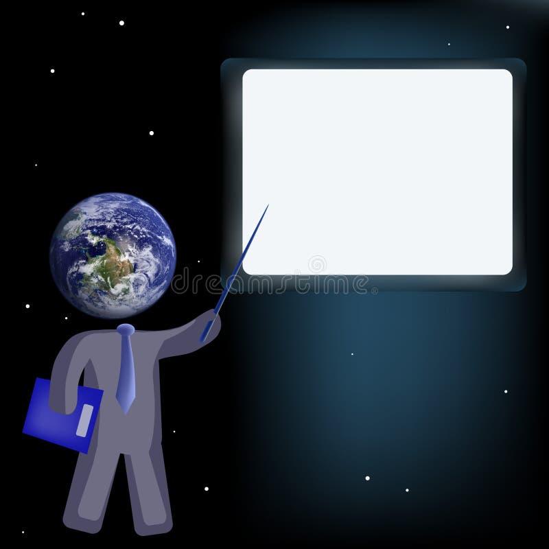 Insegnamento globale illustrazione vettoriale