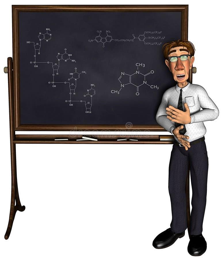 insegnante 3d che insegna al fumetto 3 illustrazione di stock