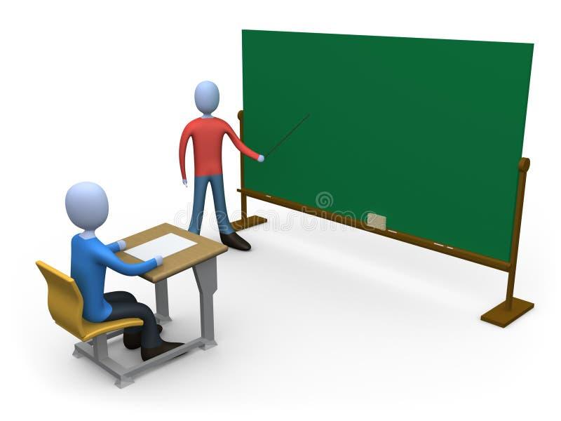 Insegnante in aula illustrazione di stock