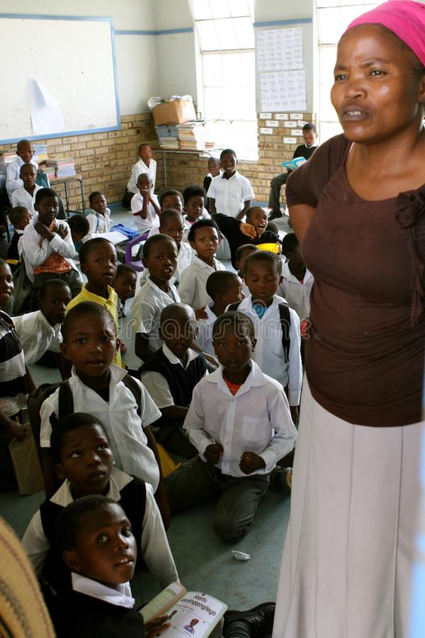 Insegnante in capo orientale Sudafrica fotografie stock