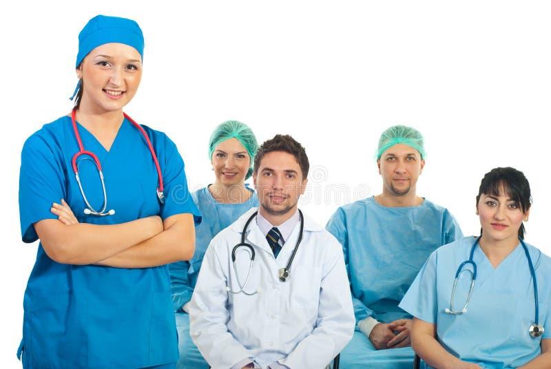 Insegnante del medico con gli allievi fotografie stock libere da diritti