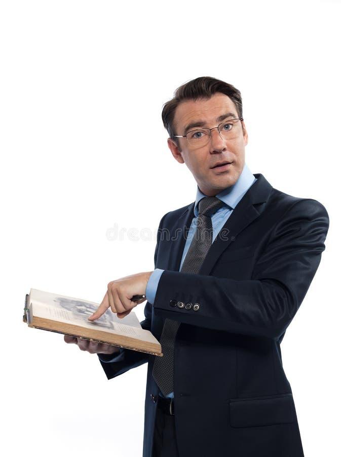 Insegnante di professsor dell 39 uomo che insegna leggendo un - Libro da colorare uomo ragno libro ...