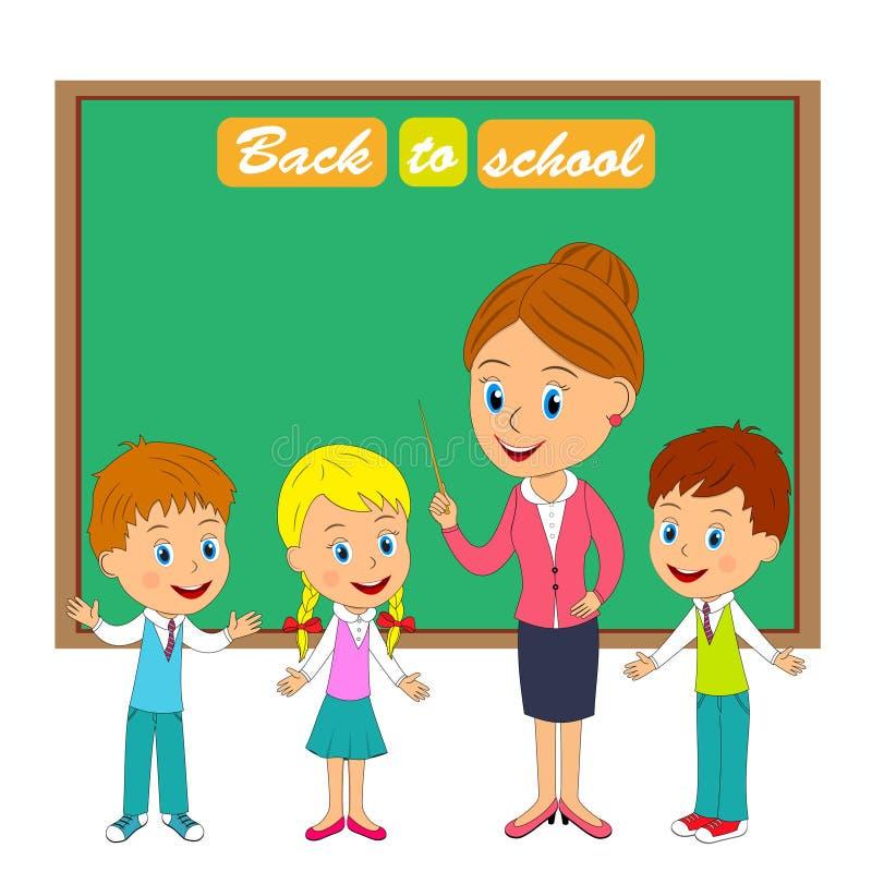 Insegnante e bambini royalty illustrazione gratis