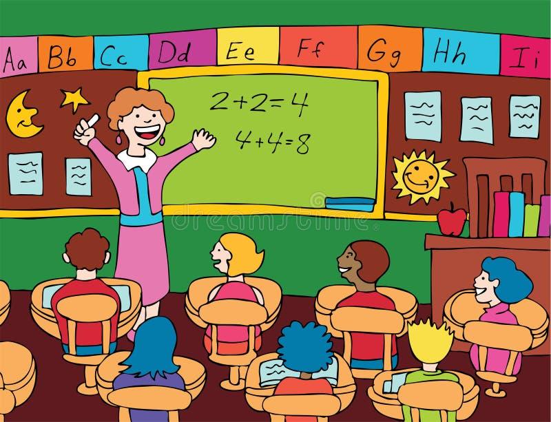 Insegnante per la matematica illustrazione vettoriale