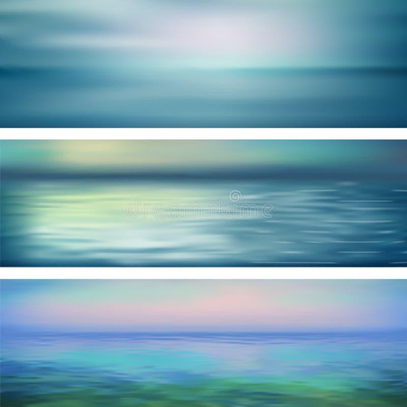 Insegne astratte dell'acqua di vettore illustrazione vettoriale