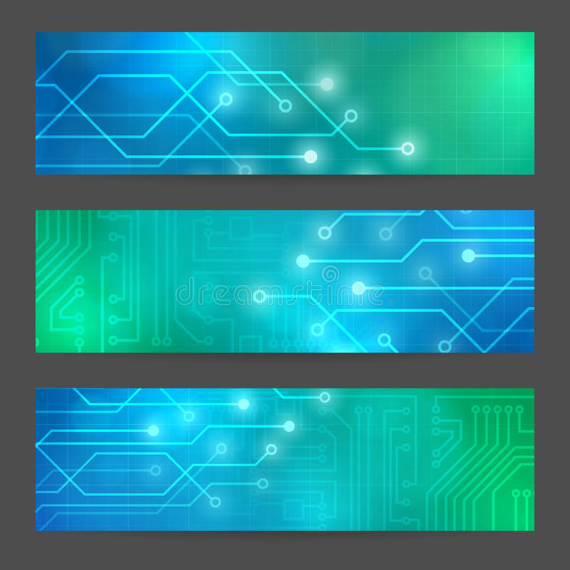 Insegne astratte stabilite del computer di tecnologia illustrazione vettoriale